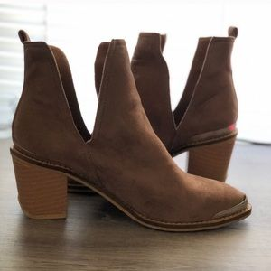 YDN Tan Jeffrey Campbell Like Ankle Boots 9
